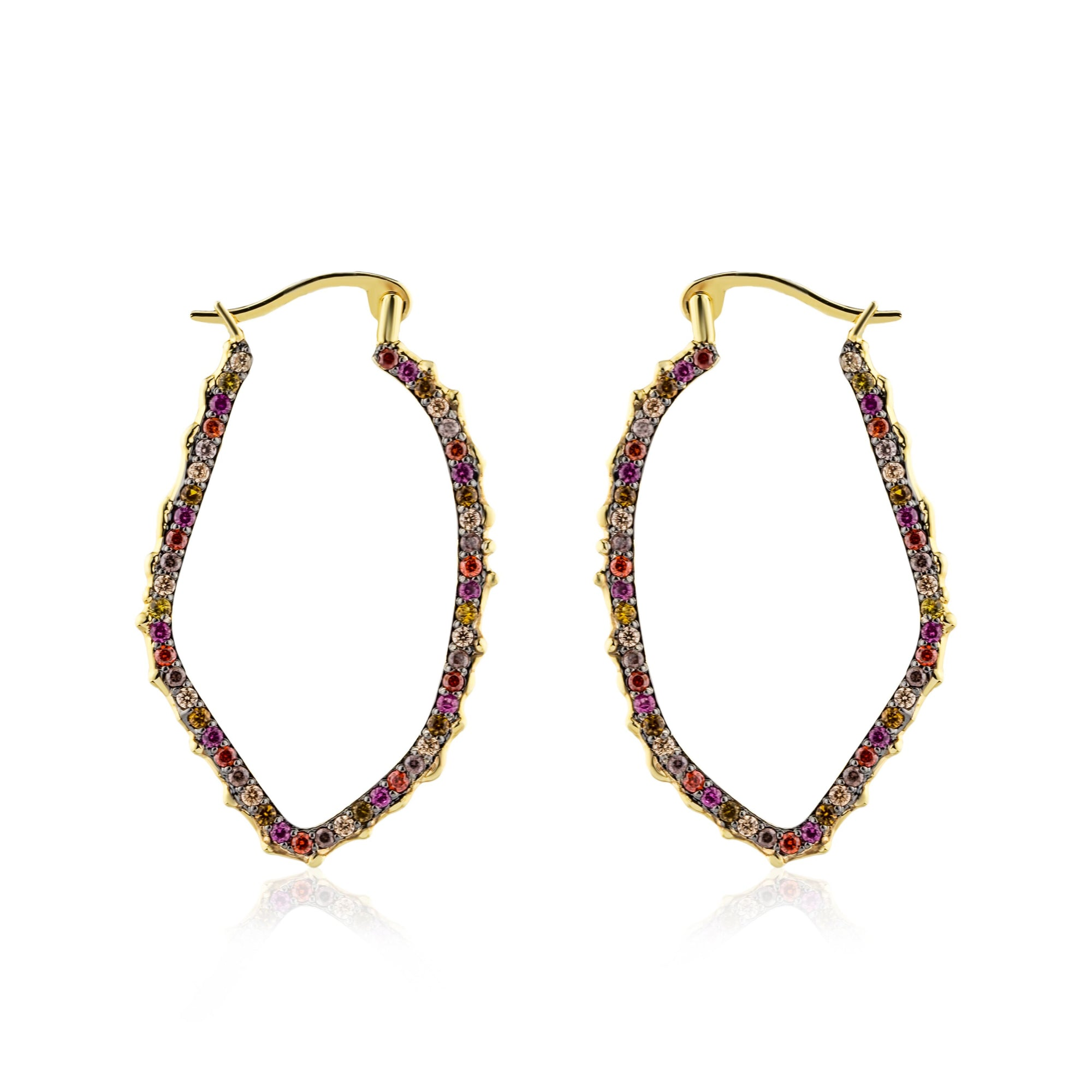 Agate Band Mini Hoop Earrings