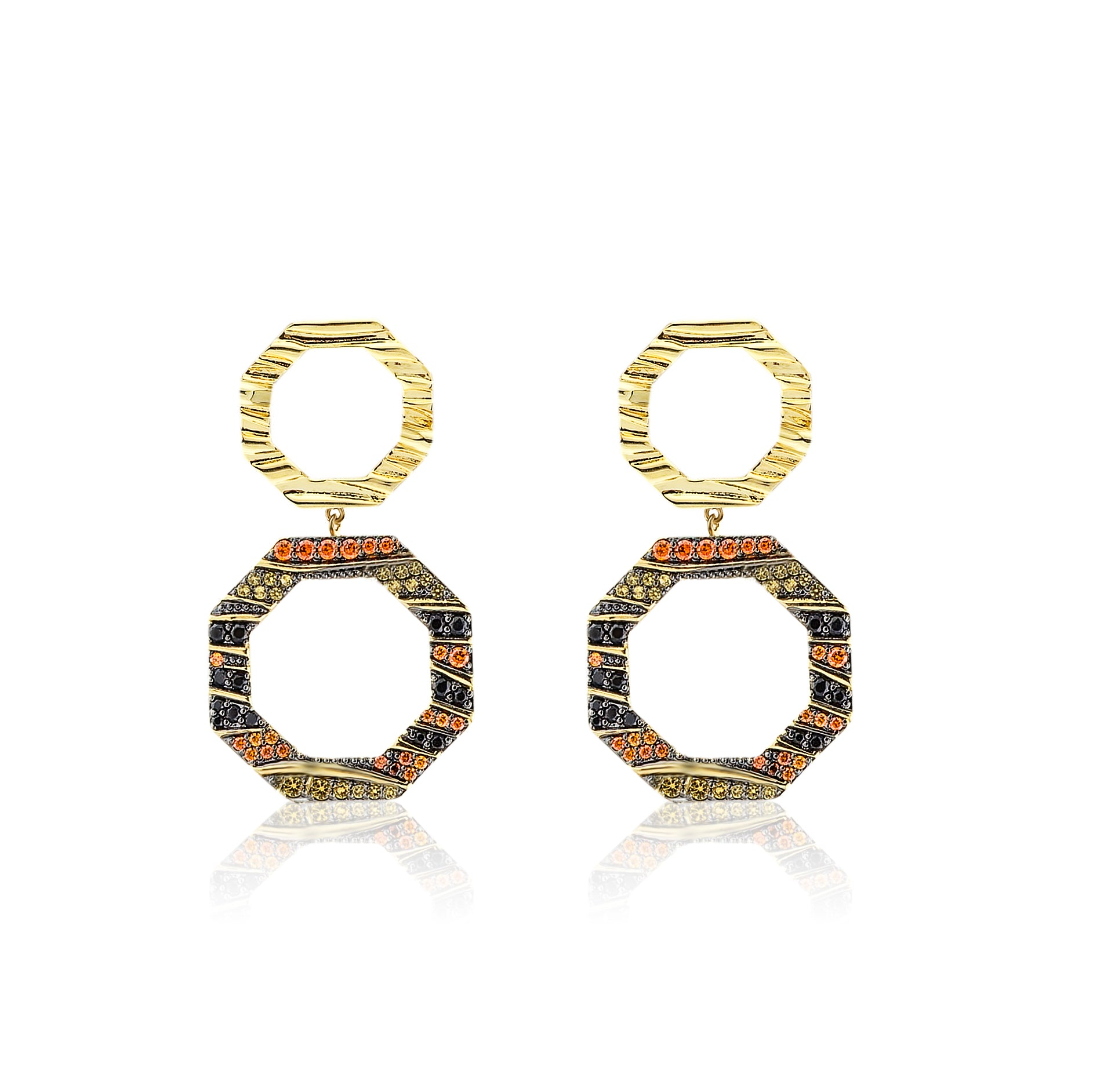 Rhinestones Multicolor Earrings