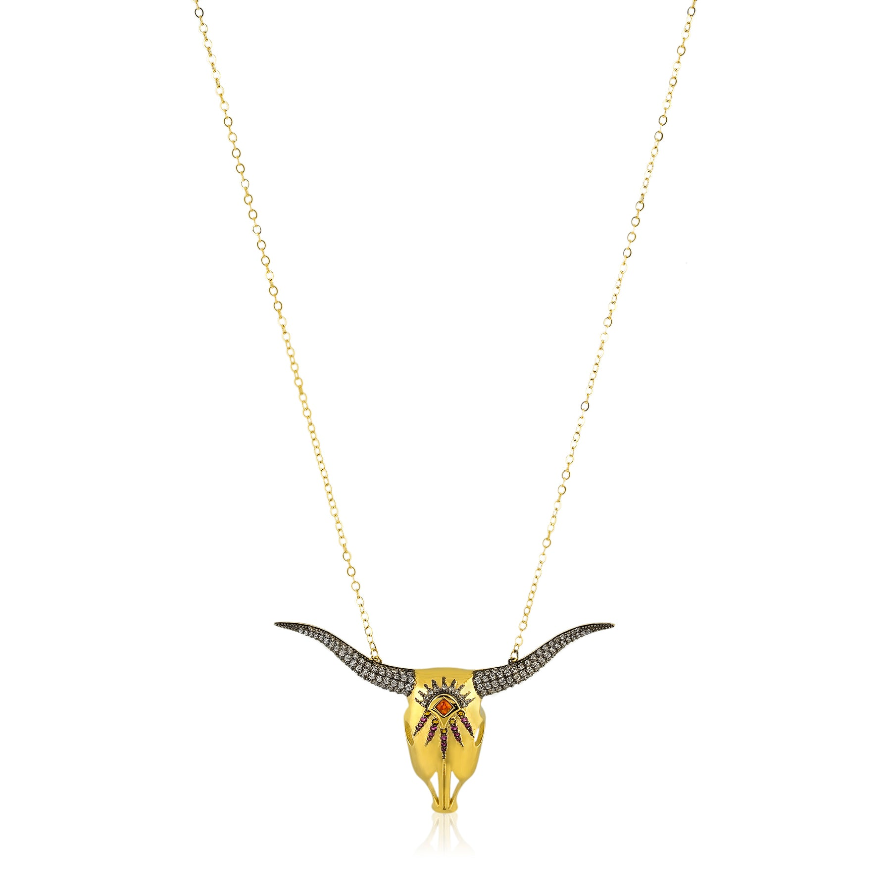 Large Longhorn Necklace