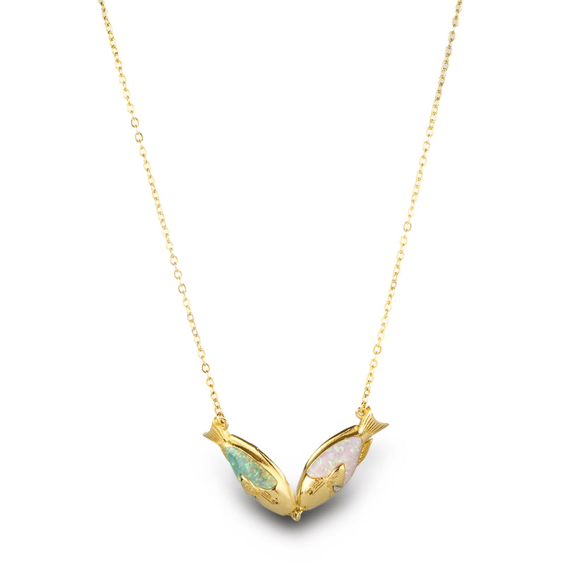 Biscayne Kissing Fish Necklace