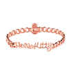 Pink Hello Kitty Logo Bracelet