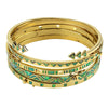 Apollo Bangle Set Gold Opal