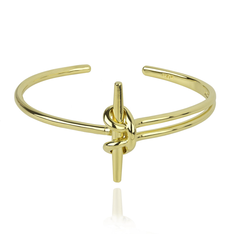 GOLD PLATED BOW KNOT BRACELET