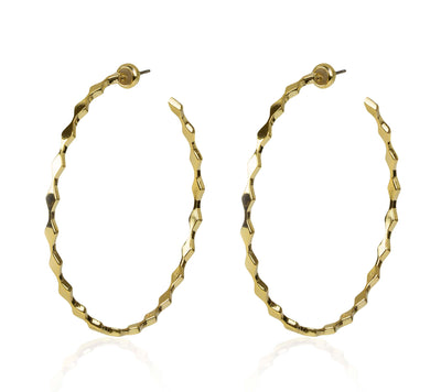 SLIM KNIFE EDGE HOOPS