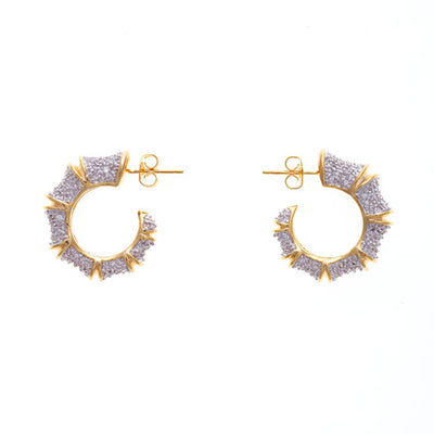 Bamboo Pave Tapers Earrings