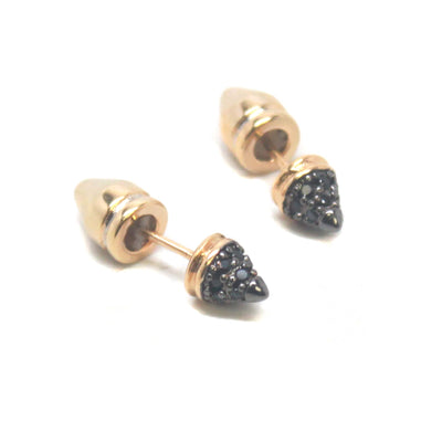 Sherry Small Pave Stud Post Earrings