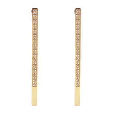 Tammy Modernist Stick Pave Earrings