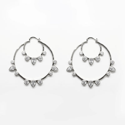 Lauren Multi CZ Hoop Earrings