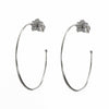 Vanessa Pave Flower Post Hoop Earrings