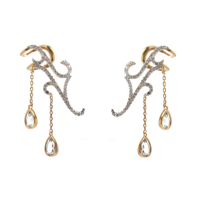 Anne Up The Ear Dangling Stone Earrings