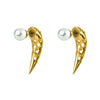 Patti Front-Back Earrings with Pearl