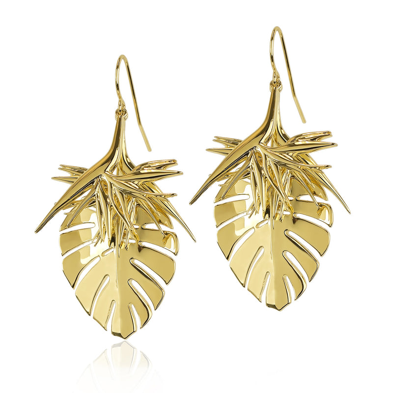 PHILODENDRON EARRINGS