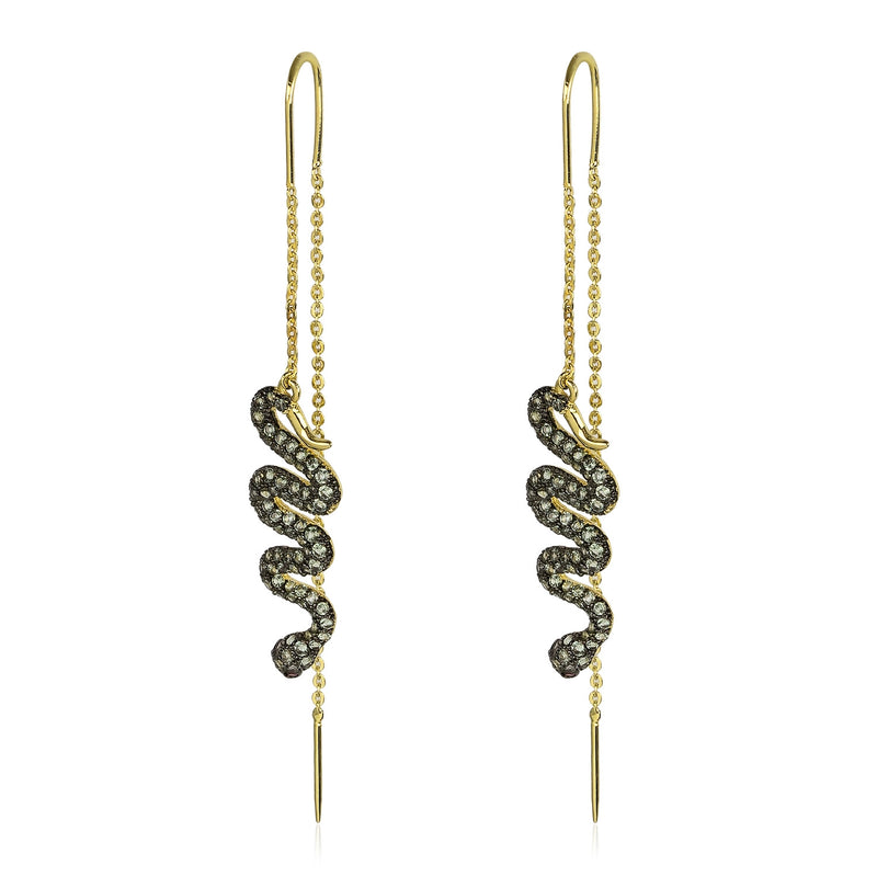 Serpent Threader Earring