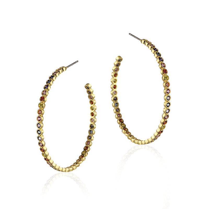 Baria Medium Hoop Earrings
