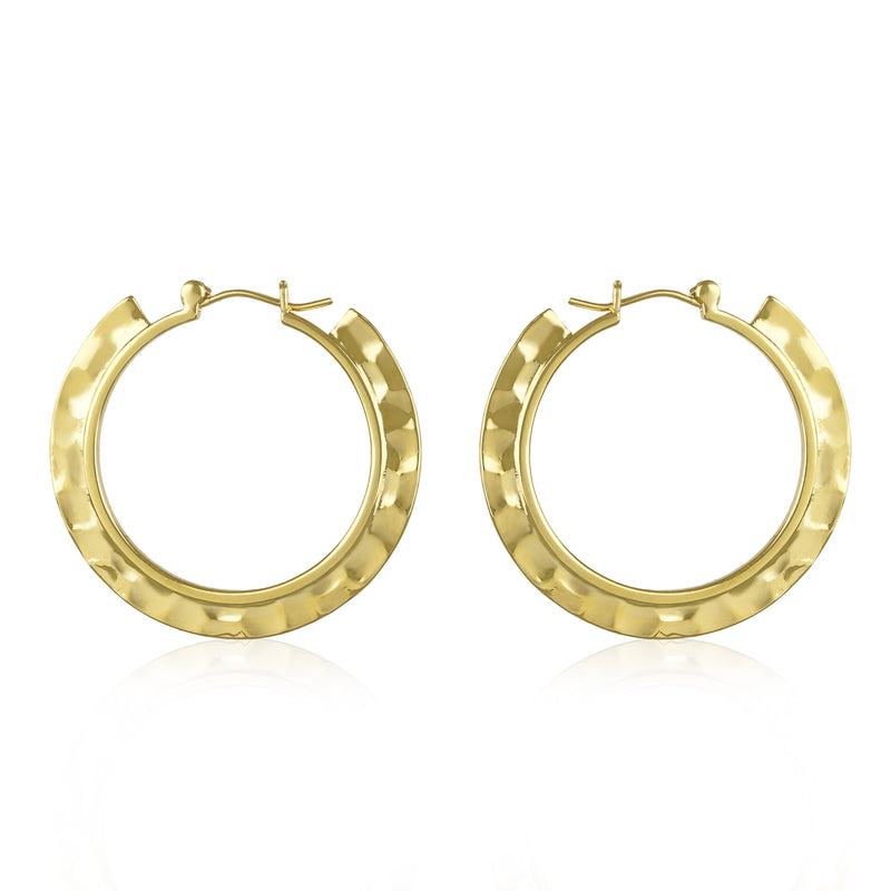 Plate Hoop Earrings
