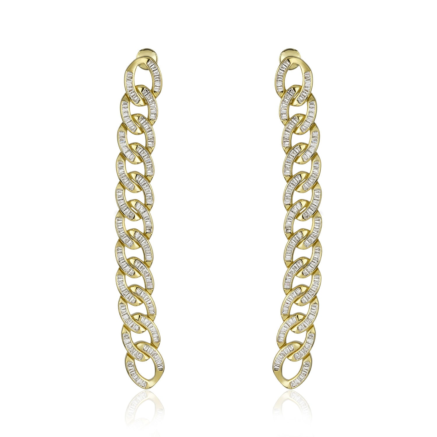 Chain Gang Linear Earrings