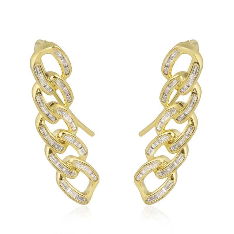 Chain Gang Ear Creeper Earrings