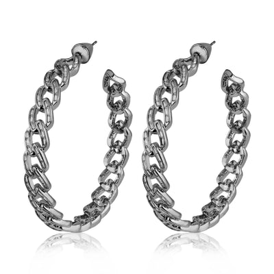 Chain Gang Large Hoop Earrings