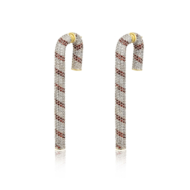 Candycane Front-Back Earrings