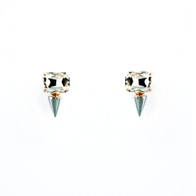 Crystal Metal Stud Earrings