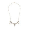 Triple Spikes Pendant Necklace