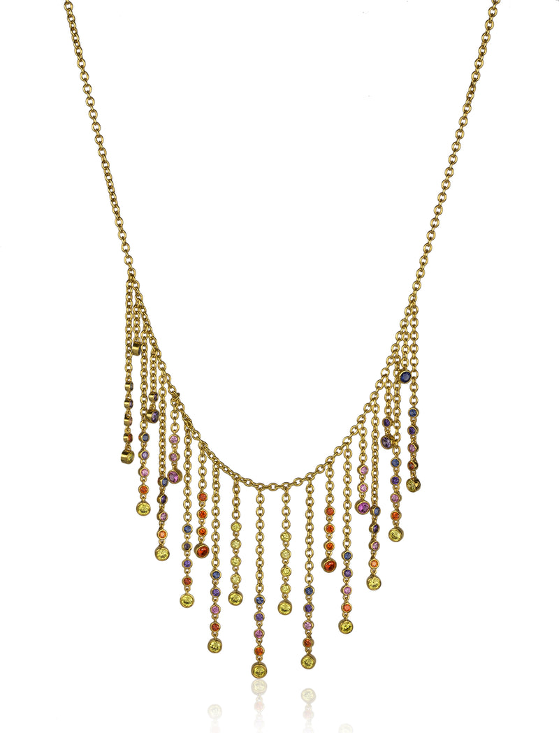 Cabras Drop Fringe Necklace