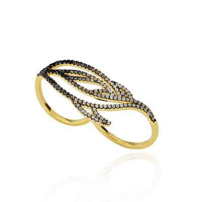 LUSTROUS DOUBLE RING