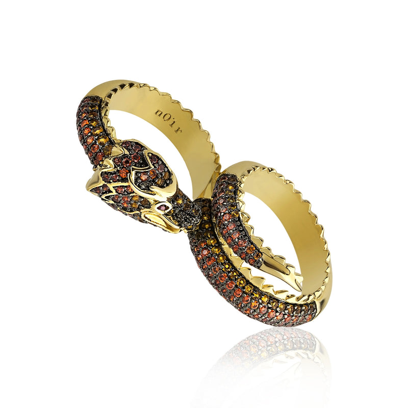 Dragon Two Finger Ring
