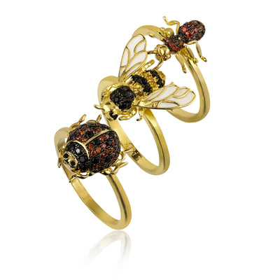 Assorted Bug Ring Set