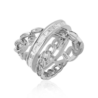 Chain Gang Stackable Ring Set