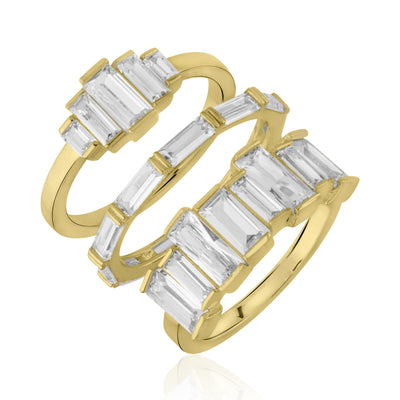 Rangées Stackable Ring Set