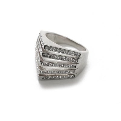 Carla Pave Pyramid Spike Ring