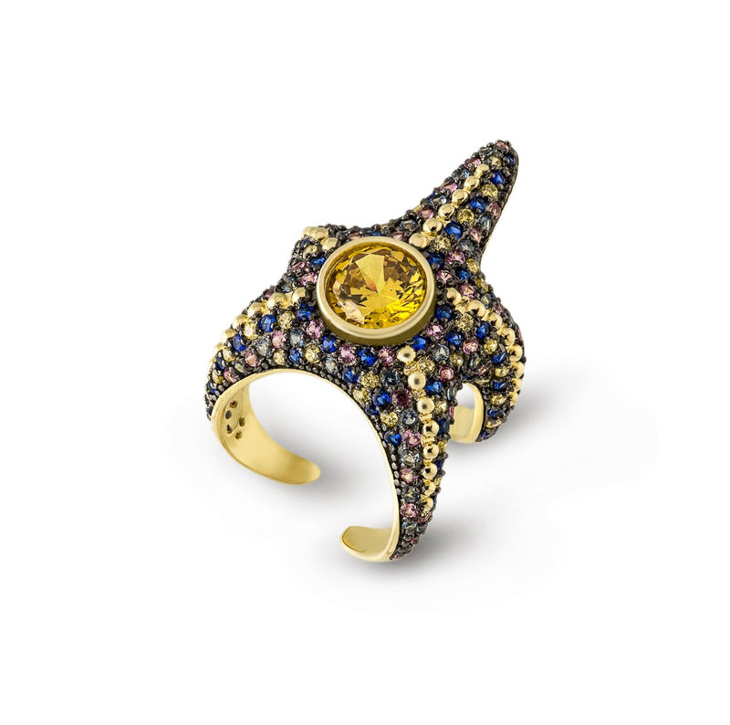 Saboga Starfish Wraparound Ring