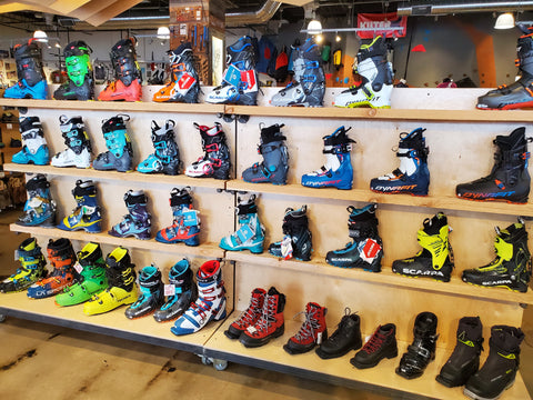 ski boot selection at Neptune