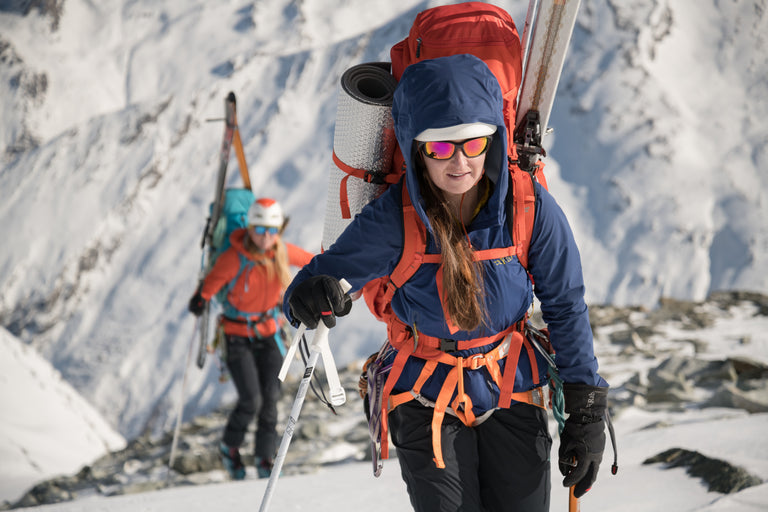 ski mountaineer with backpack