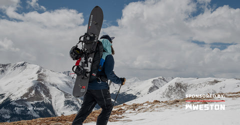 An image of a splitboarder. Courtesy of Weston Backcountry