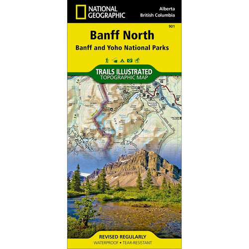 National Geographic Banff North Map [Banff and Yoho National Parks] (901)