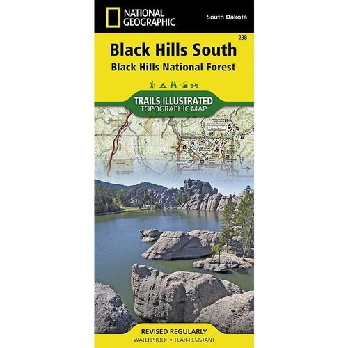 National Geographic Black Hills South Trail Map (238)