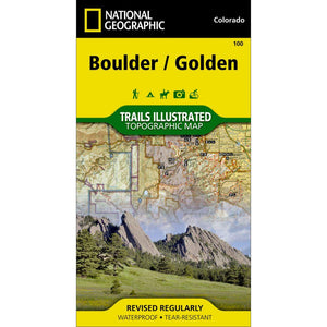 Boulder/Golden Trail Map #100