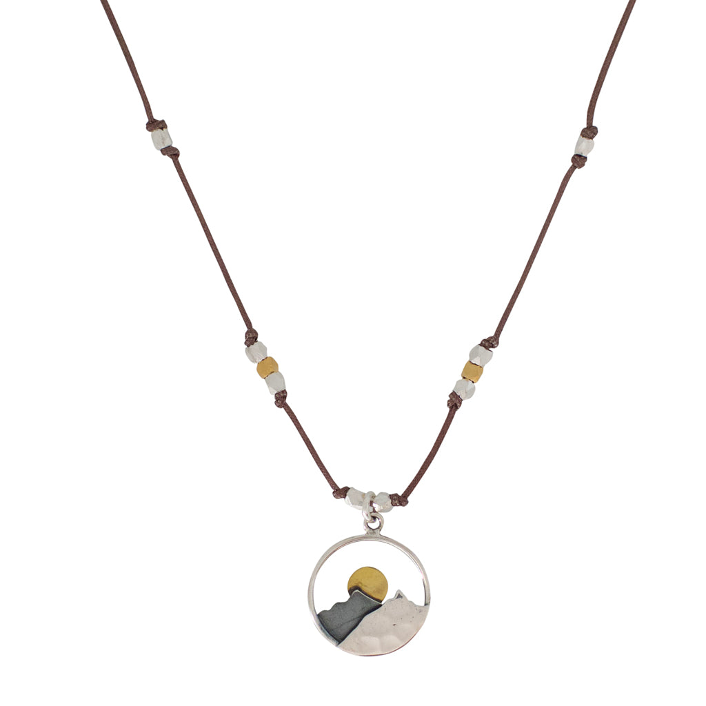 Bronwen Mountain Landscape Necklace