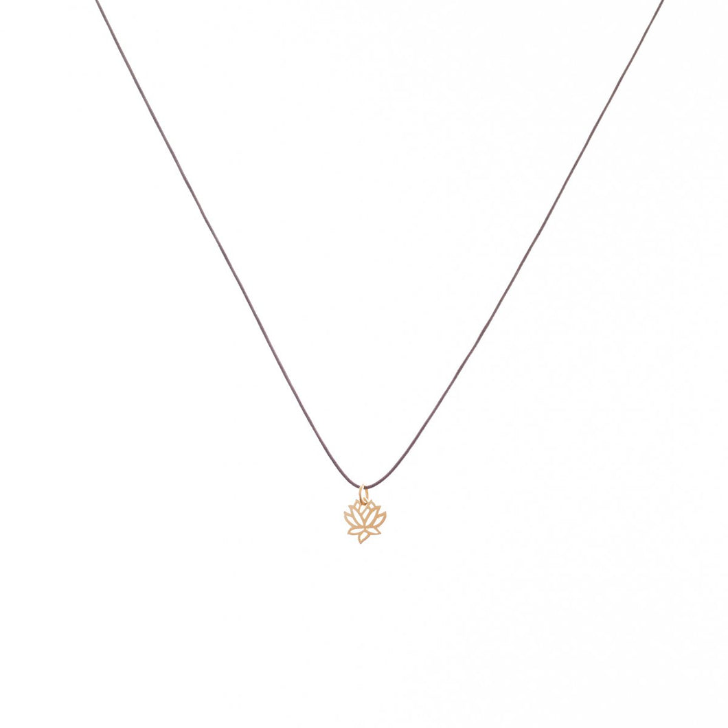 Bronwen Tiny Charm Lotus Necklace