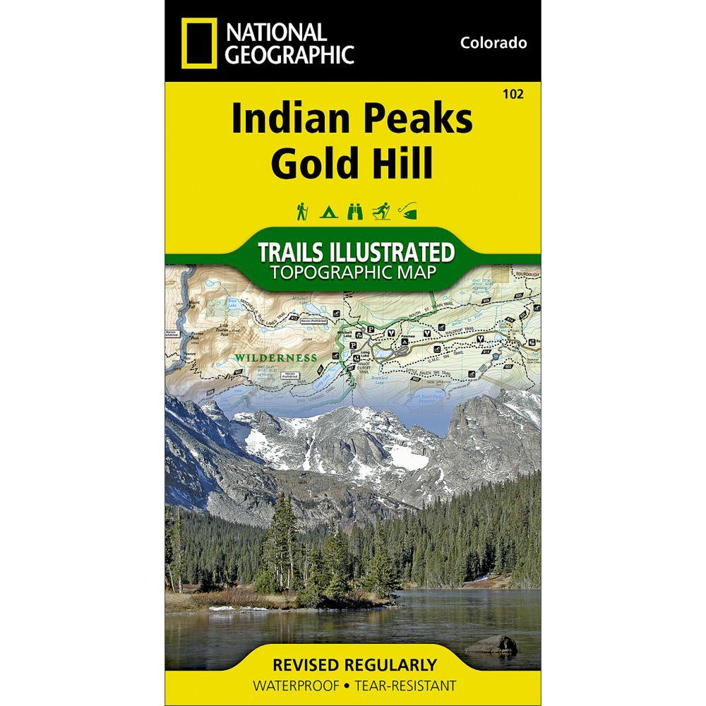 Indian Peaks Gold HIll Trail Map #102