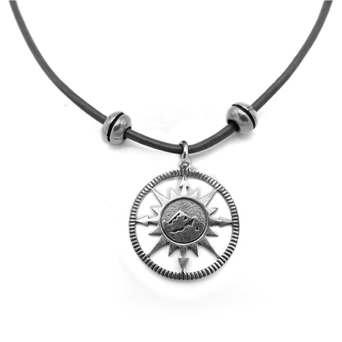 Lilo Collections Mountain Compass Necklace
