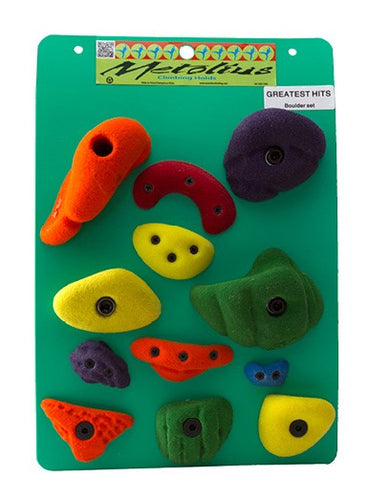 Metolius Greatest Hits: Boulder Climbing Holds 12 Pack