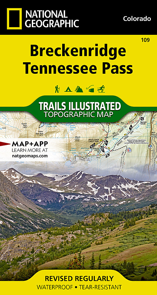 National Geographic Breckenridge, Tennessee Pass Map (109)