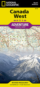 National Geographic Canada West Adventure Map (3113)
