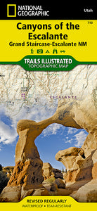National Geographic Canyons of the Escalante Map [Grand Staircase-Escalante National Monument] (710)
