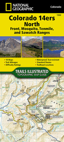 National Geographic Colorado 14ers North Map [Sawatch, Mosquito, and Front Ranges] (1302)