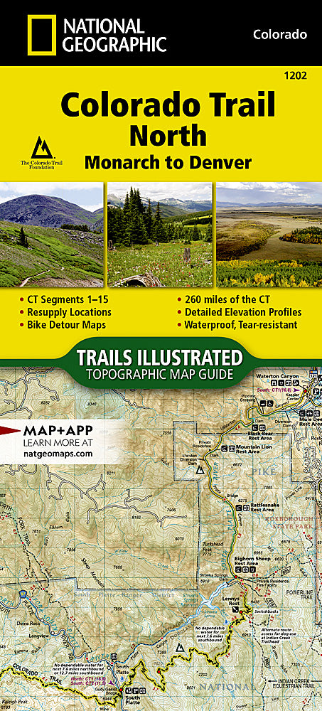 National Geographic Colorado Trail North, Monarch to Denver Map (1202)