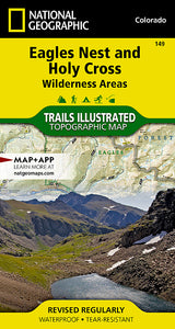 National Geographic  Eagles Nest and Holy Cross Wilderness Areas Map (149)